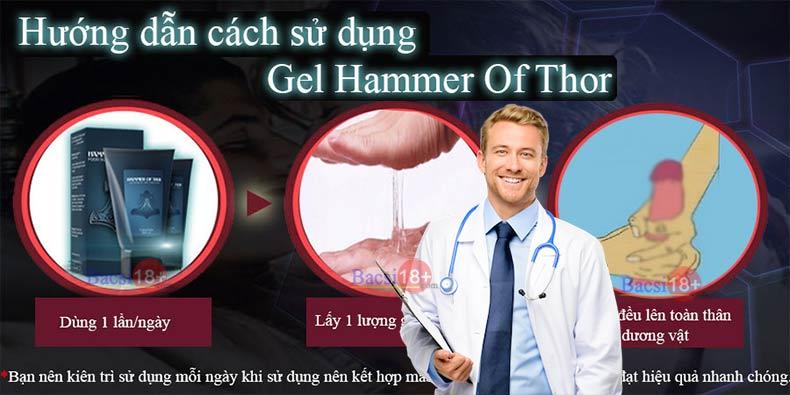 Cách sử dụng Hammer of thor gel bôi