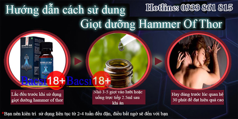 Cách sử dụng Hammer of thor dạng nước công dụng hammer of thor 10 Công dụng thật của Hammer Of Thor trong phục hồi sinh lực cach su dung hammer of thor dang nuoc