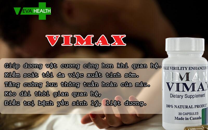 Vimax là gì? có tốt không? giá bao nhiêu? mua ở đâu? cách sử dụng vimax