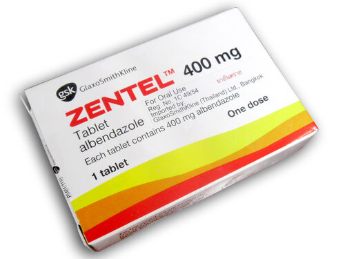 Thuốc tẩy giun Zentel
