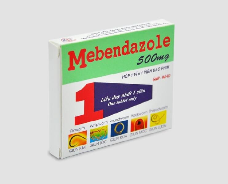 Thuốc tẩy giun Mebendazol 500mg